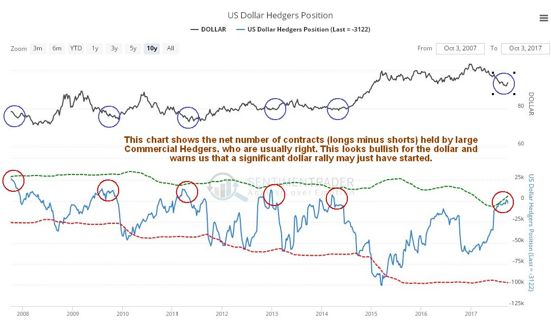 US Dollar Hedgers Position
