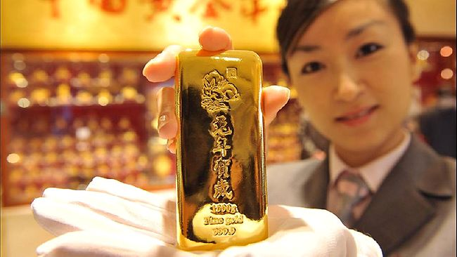 Gold bar in China