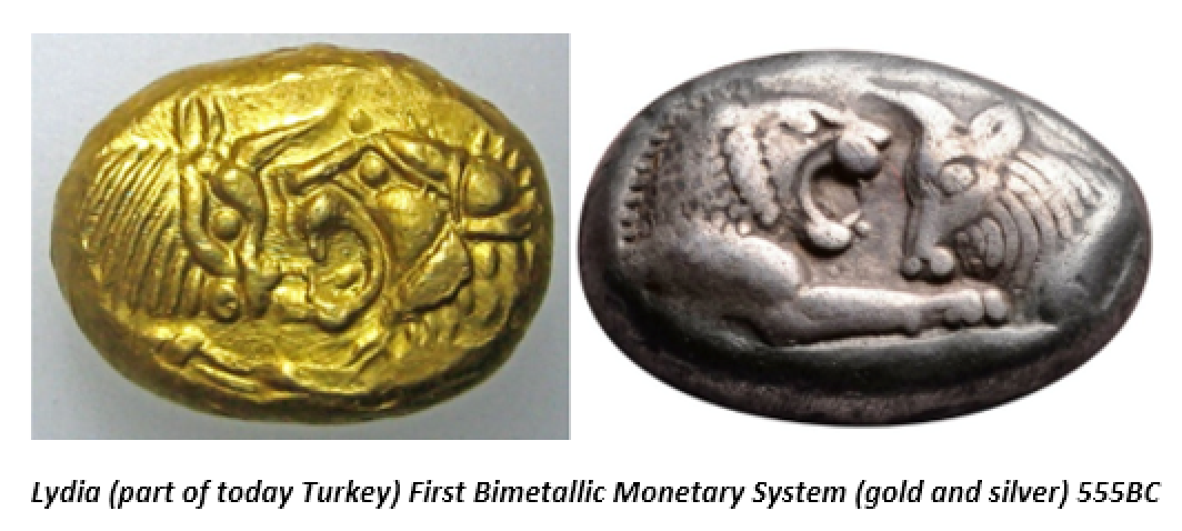 Lydia, first bimetallic monetary system